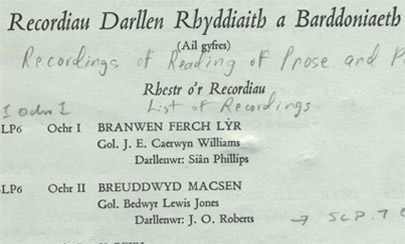 Image of Welsh collection document